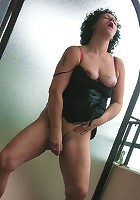 Masturbating housewife getting wet