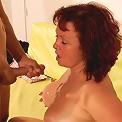 Naughty mature slut fucking and sucking a dude