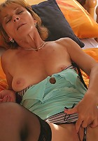 Horny housewife getting herself wet and wild