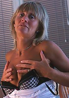 Naughty mature slut getting herself horny