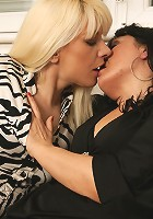 Lesbian housewife lick and go wild