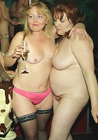 An all women mature gang bang party gets wild
