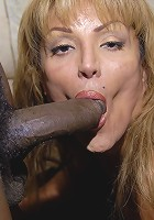 This horny mature slut only wants her cocks to be black