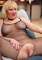 Horny blonde American housewife gets wet