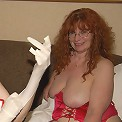 Red big titted mature slut gets fisted and toyfucked