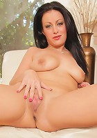 Angelica Raven gives her shaved milf pussy some needed attention