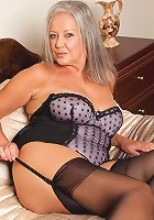 Busty Anilos babe in her mouth watering lingerie