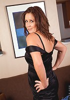 Hot milf in her black lingerie teasingly sexy