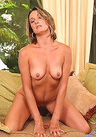Hot blonde Anilos spreads her legs proudly exposing her sweet pussy