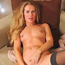 Anilos milf Sara James fondles her fuck hole and drills her vibrator deep inside