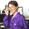 Watch this sexy mature office chick as she spreads for the camera