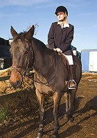 Horse loving MILF Laurita from AllOver30 strips after her ride