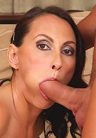 Horny MILF Sandy K plants her 36 year old pussy on willing cock