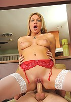 31 year old Christina takes a hard cock deep inside her mature pussy