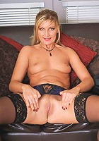 Hot MILF Yasmin from AllOver30 spreads her 34 year old legs in here