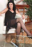Mary-Sue spreads removes her lacey panties and spreads her legs