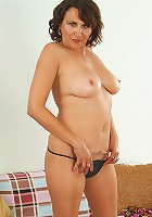 Exotic MILF Rio spread her mature pussy for the camera