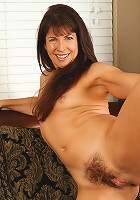 44 year old Marlee from AllOver30 displaying her very hairy beaver