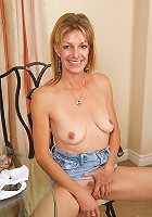 Beautiful MILF Marlee from AllOver30 show off her hairy pussy