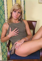 Tight MILF Monica displays her very hairy pussy here