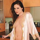 Sexy mature brunette Samantha Ryan looking fantastic in� silk