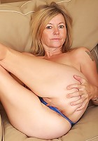 Blonde 48 year old MILF Susie spreads her ass wide for you guys