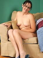 34 year old Kim from AllOver30 plays the perfect housewife in here