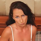 Brunette MILF Sandy K gets woken up and puts on a show for you