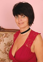 Horny 56 year old Eve displaying a perfect pair of mature titties here