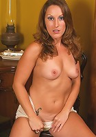 Brunette MILF Charlie from AllOver30 posing with her mirror in here