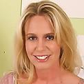 Sweet looking blonde MILD displays her tight shaven box