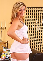 Meaty pussied Diana from AllOver30 slips out of her lingerie