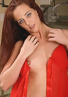 Redheaded MILF Sabrina has all your treats hot and ready