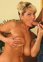 Busty mature Berna gets her pussy jammed with dick.