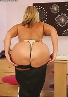 Tonya looks delicious in her stockings!