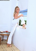 Micah looks sexy in her white pants!
