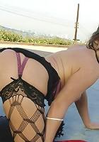 Horny Mature Slut rides dick!