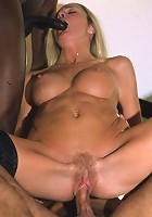 Blonde MILF takes a double helping of big dick!
