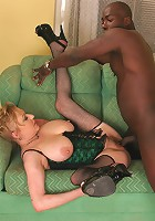 big titted granny fucks black cock!