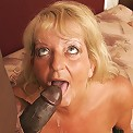Old granny goes gaga for big black cock!
