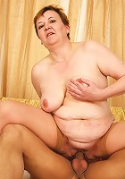 Dirty Grandma can't get enough dick!
