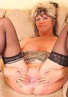 Sexy senior slut fucks with 1 foot in the grave!