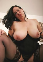 Seriously big natural tits taken for a ride!