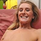 Hot MILF cumsucking slut gets her blonde snatch slammed!