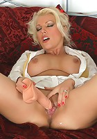 Horny Lana Cox wearing jogpers and fucking her pussy