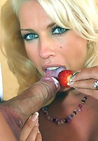 Leggy Lana shows us how to enjoy strawberries and cream the English way