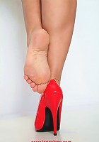 Great Lana Cox high heels set, with shoe dipping, dangling, heel clicking, foot on foot rubbing and pointing just for you