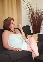 Mother in law with jizz on her face