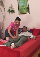 Hot riding of dick by granny