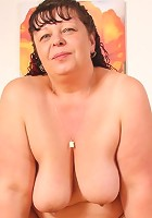 Hot mature slut is chubby, horny, and taking a big boner from her son in law